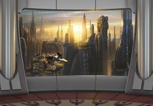 Fototapeta Star Wars Gwiezdne Wojny planeta Coruscant