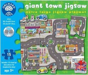 Duże puzzle jezdnia - droga dla aut - MIASTO