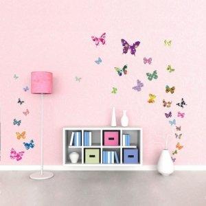Naklejki Kolorowe Motylki