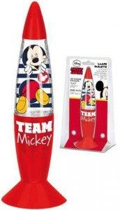 Lampka nocna Myszka Miki Glitter brokatowa Mickey Mouse Disney red