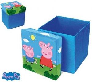 Pufa Pudełko pojemnik na zabawki Świnka Peppa Pig