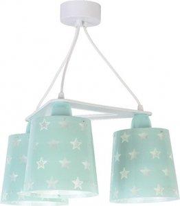 Lampa sufitowa Zielona w gwiazdki potrójna 3x60W E27 Dalber 81214H