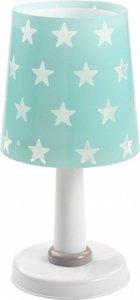 Lampka Nocna Zielona w Gwiazdki stojąca na szafkę