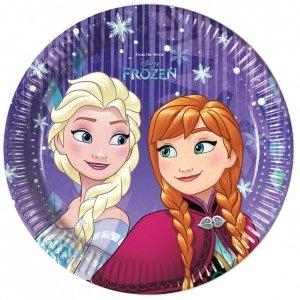Talerzyki papierowe Disney Frozen Kraina Lodu 8szt 20cm