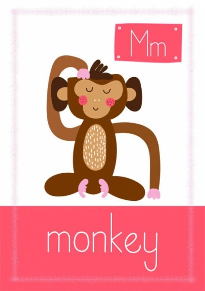 Monkey - plakat premium