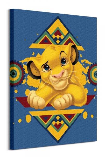 Król Lew Simba - obraz na płótnie