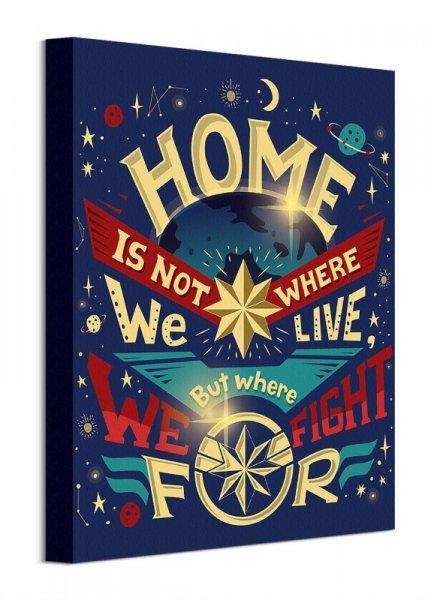Captain Marvel Home - obraz na płótnie