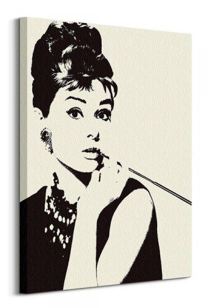 Audrey Hepburn Cigarello - obraz na płótnie