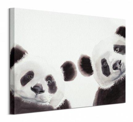 Dwie Pandy - obraz na płótnie