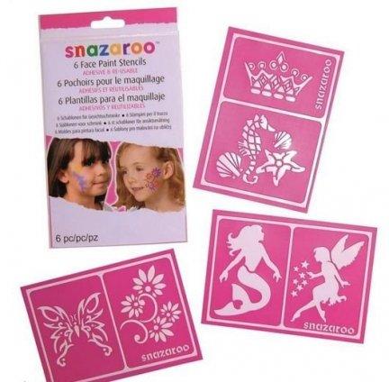Szablony do malowania twarzy i tatuaży Snazaroo dla dziewczynek