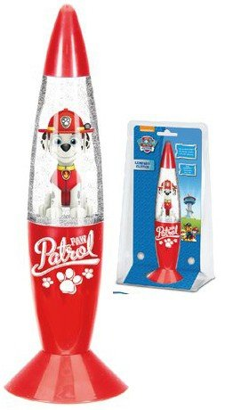 Lampka nocna Psi Patrol biurkowa MARSHALL Glitter brokatowa