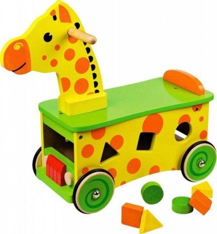 Jeździk sorter żyrafa