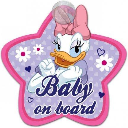 Tabliczka Z Przyssawką - Baby On Board - Daisy