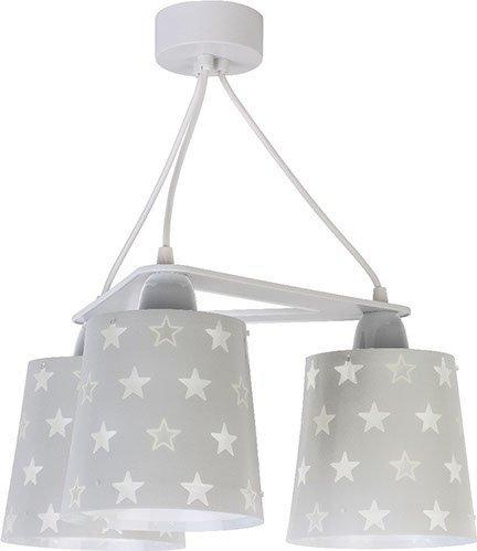 Lampa sufitowa Szara w gwiazdki potrójna 3x60W E27 Dalber 81214E