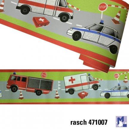 Pasek Dekoracyjny Rasch 471007 Kids Teens Pojazdy