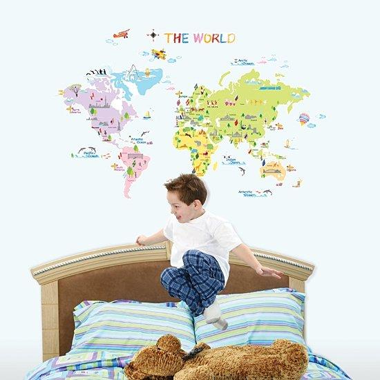 Kolorowa Mapa Świata