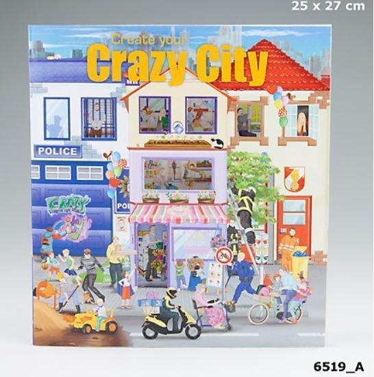 Szkicownik Crazy City - auta, pojazdy.