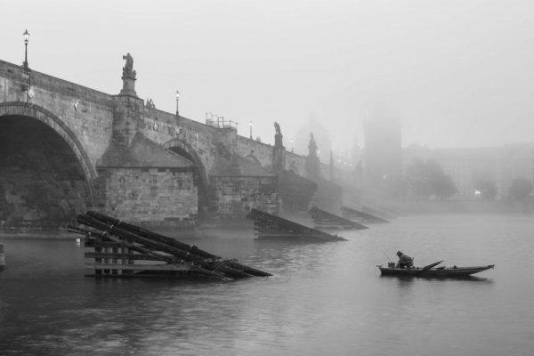 Praga, most - plakat premium