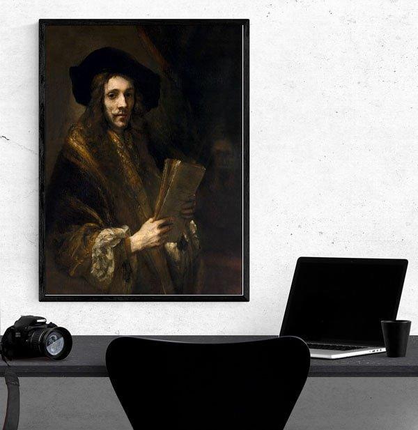 Portrait of a Man (The Auctioneer), Rembrandt - plakat