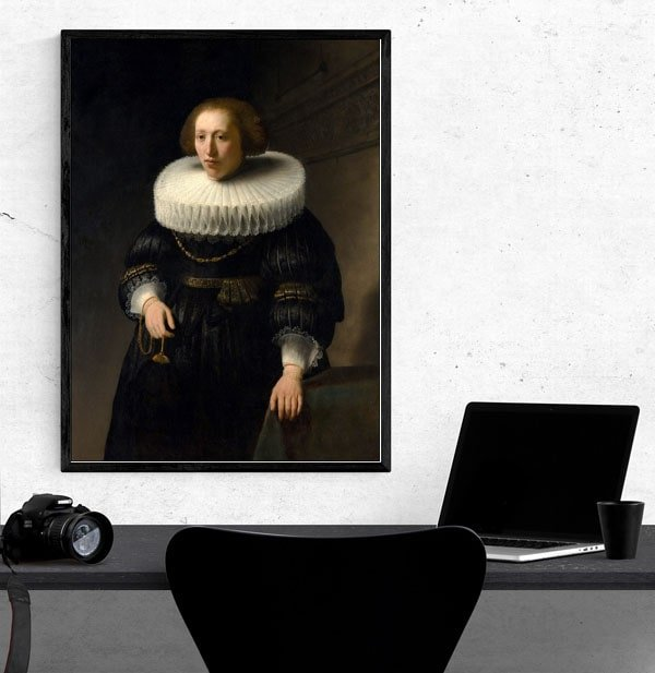 Portrait of a Woman, probably a Member of the Van Beresteyn Family, Rembrandt - plakat
