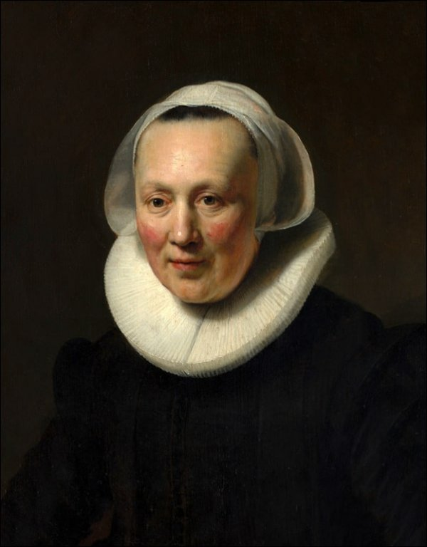 Portrait of a woman II, Rembrandt - plakat