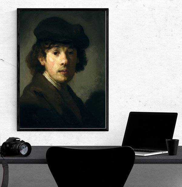Rembrandt (1606–1669) as a Young Man, Rembrandt - plakat