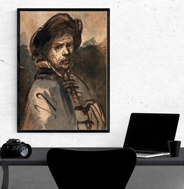Self Portrait II, Rembrandt - plakat
