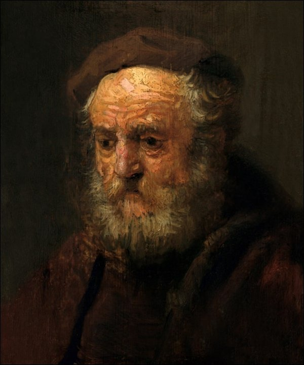 Study Head of an Old Man, Rembrandt - plakat
