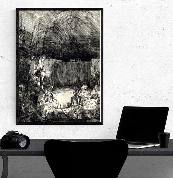 The Entombment, Rembrandt - plakat
