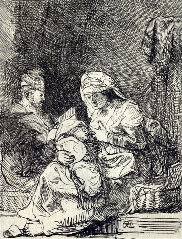 The Holy Family, Rembrandt - plakat