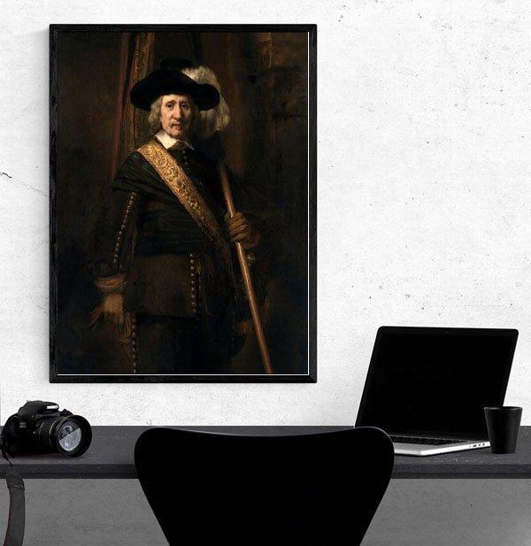 The Standard Bearer (Floris Soop, 1604–1657), Rembrandt - plakat