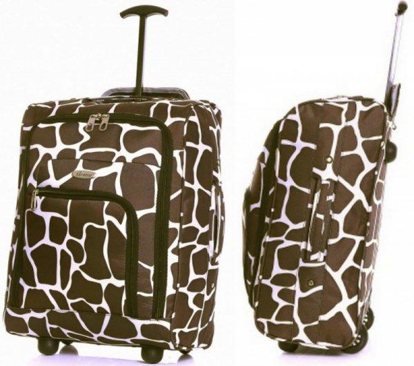 TB05 Żyrafa  walizka podróżna na kółkach