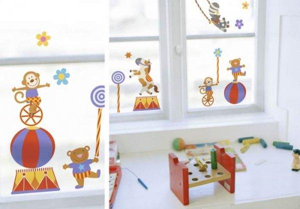 Statyczne naklejki na okno - różne wzory