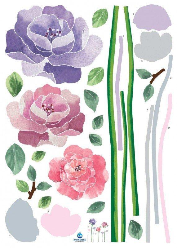 Naklejki trzy róże