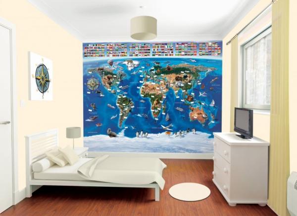 Tapeta 3D Mapa Świata
