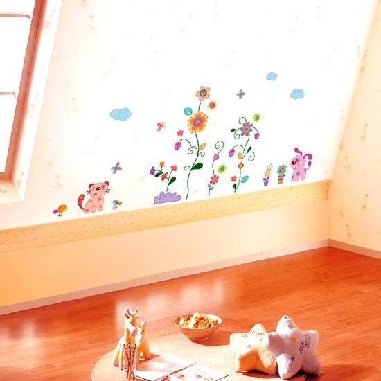 Kwiatki oraz piesek i kotek