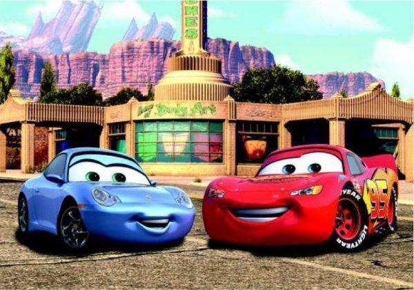 Fototapeta Disney Cars Auta MQ i Sally 360x254cm