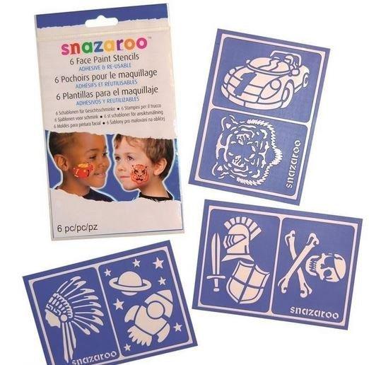Szablony do malowania twarzy i tatuaży Snazaroo dla chłopców