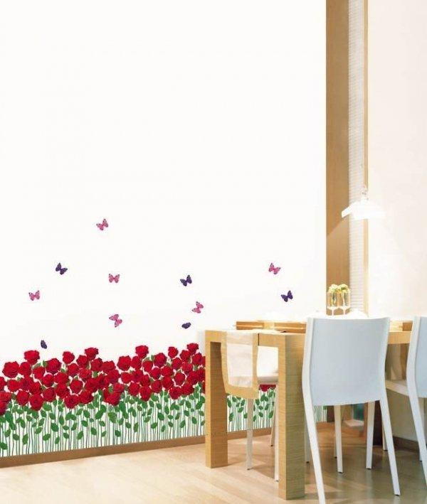 Naklejki czerwone tulipany