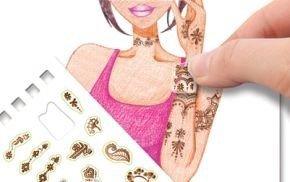 Szkicownik zakręcone tatuaże