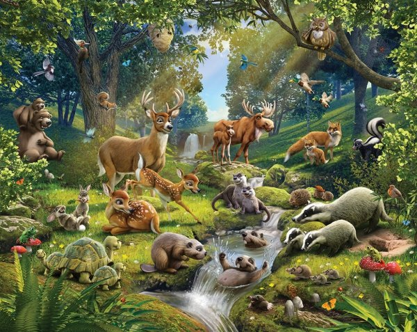 Tapeta Leśne Zwierzęta