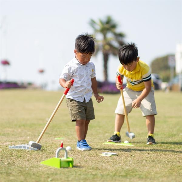 Zwariowany golf drewniany zestaw do gry w golfa
