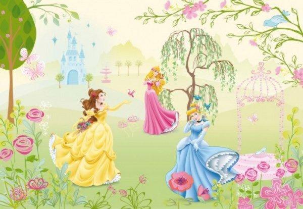 Fototapeta Disney Księżniczki w ogrodzie