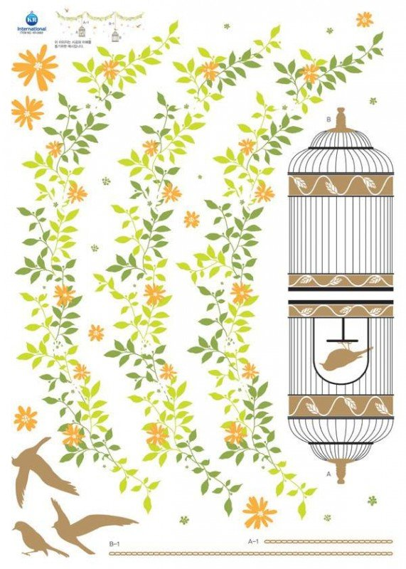 Naklejki Klatka z ptaszkiem