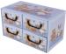 Pudełko 4 szufladki poziome Misie Niebieskie