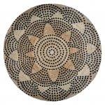 Okrągły dywan z juty wzór 2