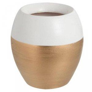 Ceramiczny wazon białe obrzeże 14 cm