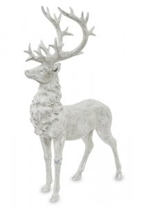 Wysoka figurka dekoracyjna dumny jeleń z okazałym porożem