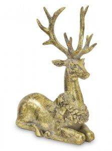 Złota figurka elegancka do salonu Jeleń