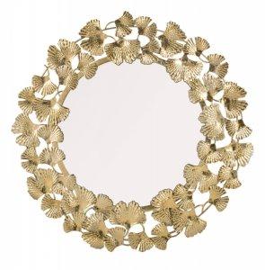 Lustro dekoracyjne złote liście duże
